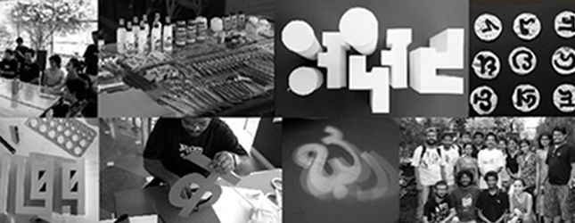 Indian Letterforms in 3D  1, 2, 3 October 2010